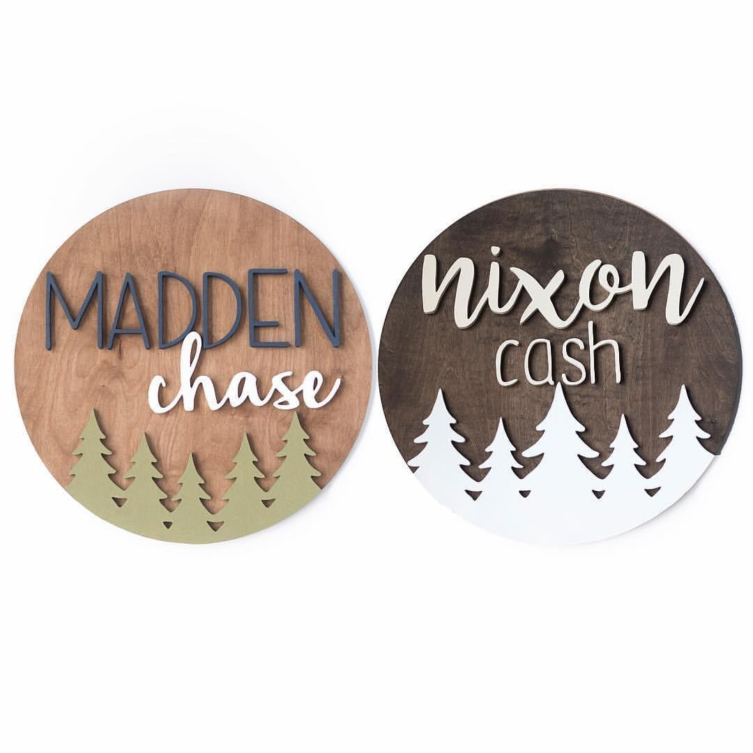 Personalized Wood Signs for Nursery, Home & Business by ModWoodCo