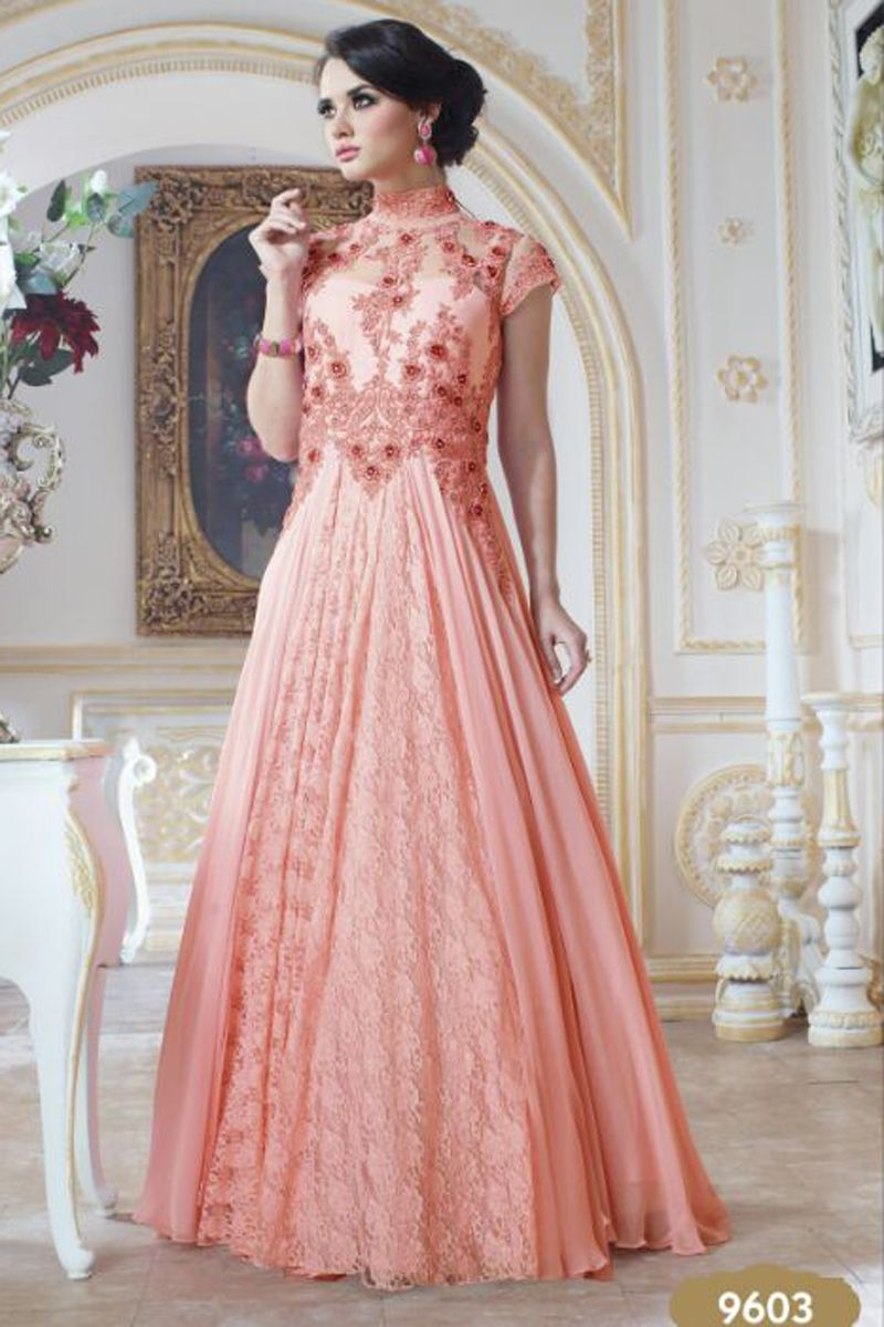 Royal Designer Embroidered Evening Gown from
