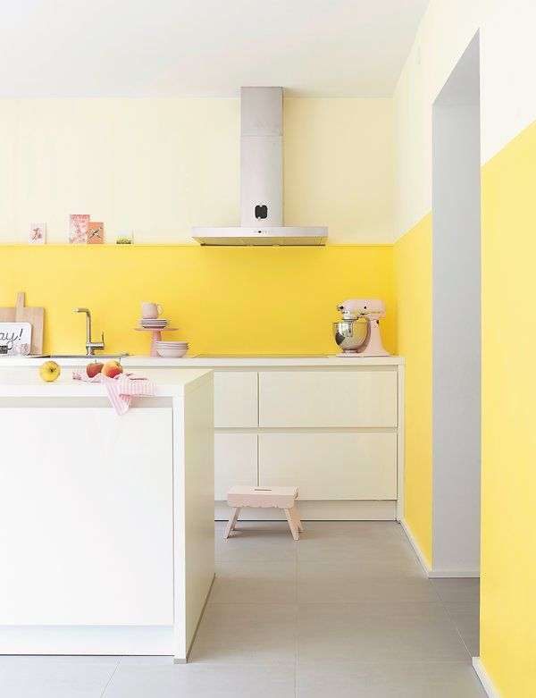 """Helle Küche """"Sonnenstrahl"""" Küche farbe, Küchen streichen"""