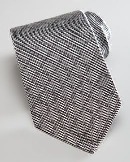 4f7589b3 N1S6J Gucci Tonal Diagonal Grid Tie, Graphite   Stylish Men ...