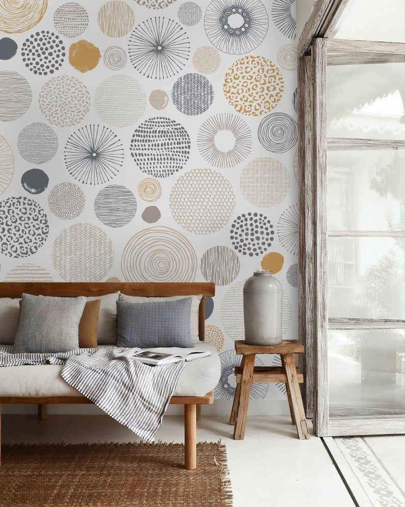 Self Adhesive Peel And Stick Geometric Wallpaper Removable Etsy In 2021 Geometric Wallpaper Living Room Bedroom Wallpaper Living Room