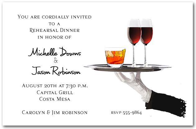 business invitations: server's tray cocktail party invitations, Party invitations