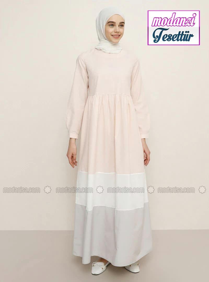 Modanisa Elbise Modelleri 2020 Garnili Elbise Pudra 2020 Moda Stilleri Elbise Modelleri Elbise