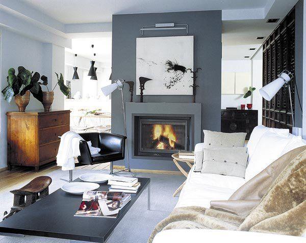 Ideas para decorar el sal n tabique sal n y muebles - Como decorar un salon con chimenea ...