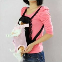 Front Style Pet Dog Carrier Backpack w/ Legs Out Design Size S - Pink