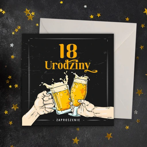 Zaproszenia Na 18 Urodziny Beer Party 10szt Allegro Pl Pomyslowe Zaproszenia Na 18 Urodziny Na Przyjecie Dla Chlopaka W Eleganc Book Cover Art Enamel Pins