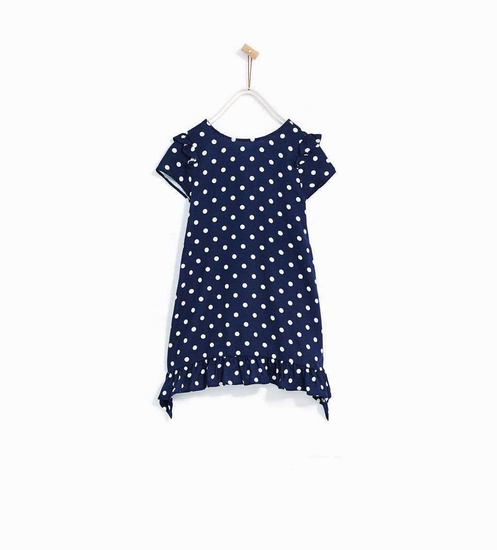 FRILLED DRESS WITH POLKA DOTS-View All-DRESSES AND JUMPSUITS-GIRL ... 5f53459a7a4bc