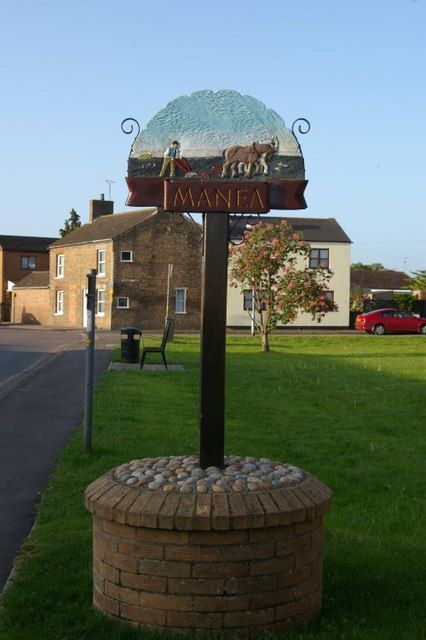 Manea Village Sign Edward Brainsby (1867) 1881 | Signs ...
