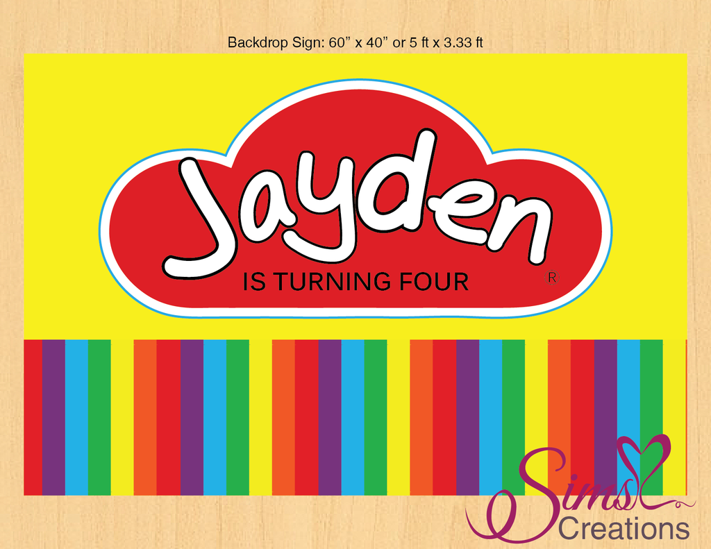 Playdoh Theme Printable Backdrop Banner Play Clay Party Poster Banner Backdrop Party Poster Backdrops For Parties