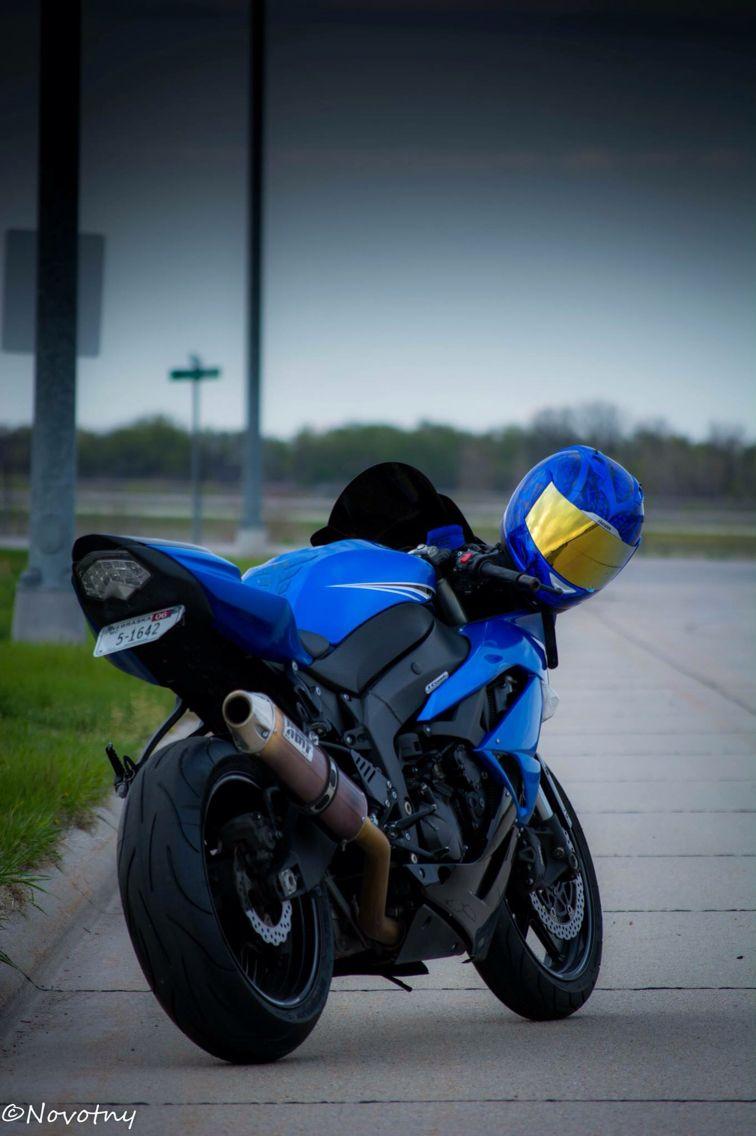 blue zx6r kawasaki streetbike sportbike motorcycle photography