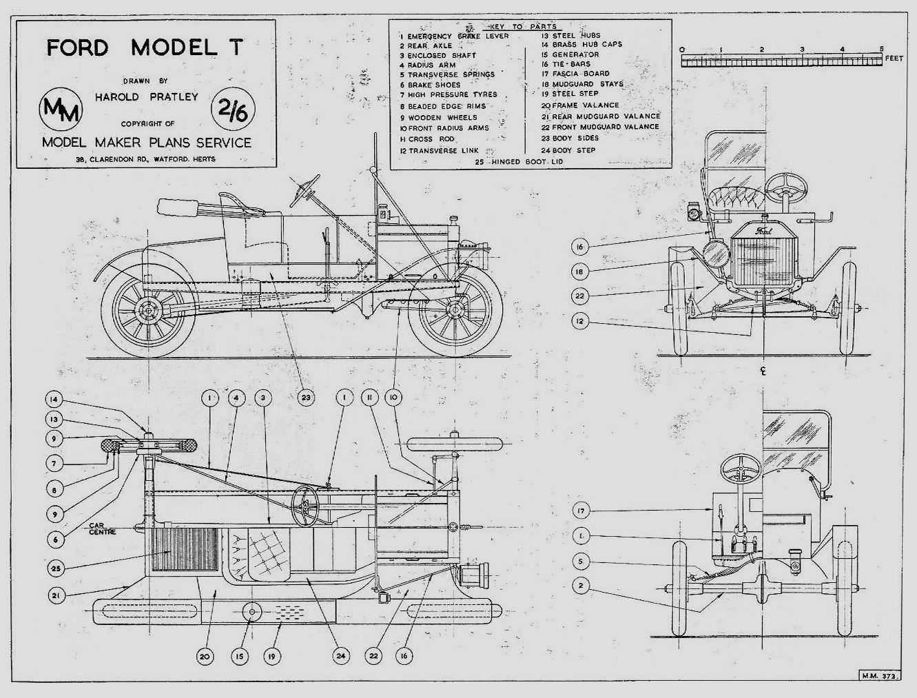 Vintage Ford Blueprints
