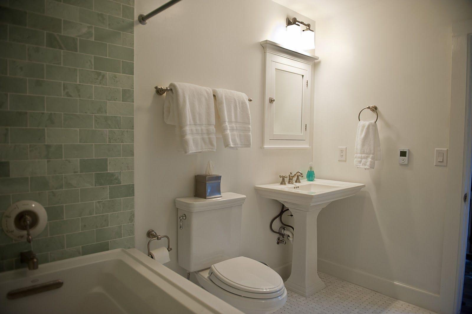 Kohler Memoirs pedestal sink and Toto Promenade toilet | Bathroom ...
