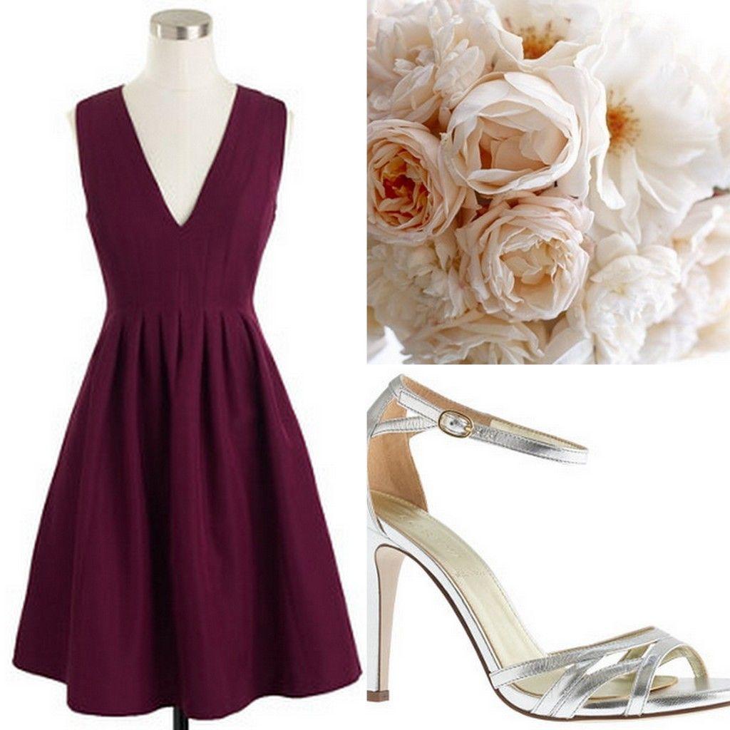 Cranberry Red Burgundy Bridesmaid Dresses Wedding Style Inspiration