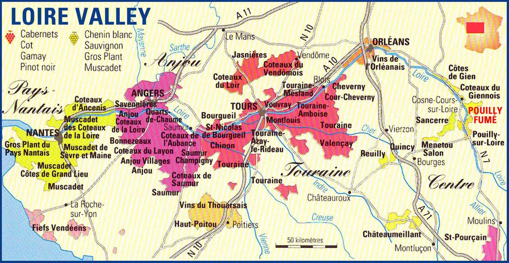 Image result for map of loire valley and its towns La Valle de la