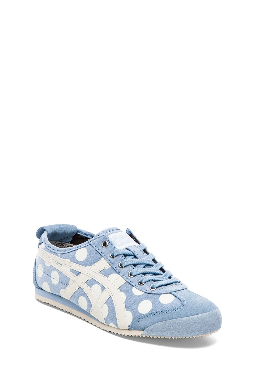 Men Asics Onitsuka Tiger Mexico 66 Blue Chambrey Off White Shoes