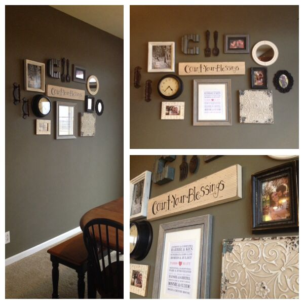 Dining Room Wall Collage