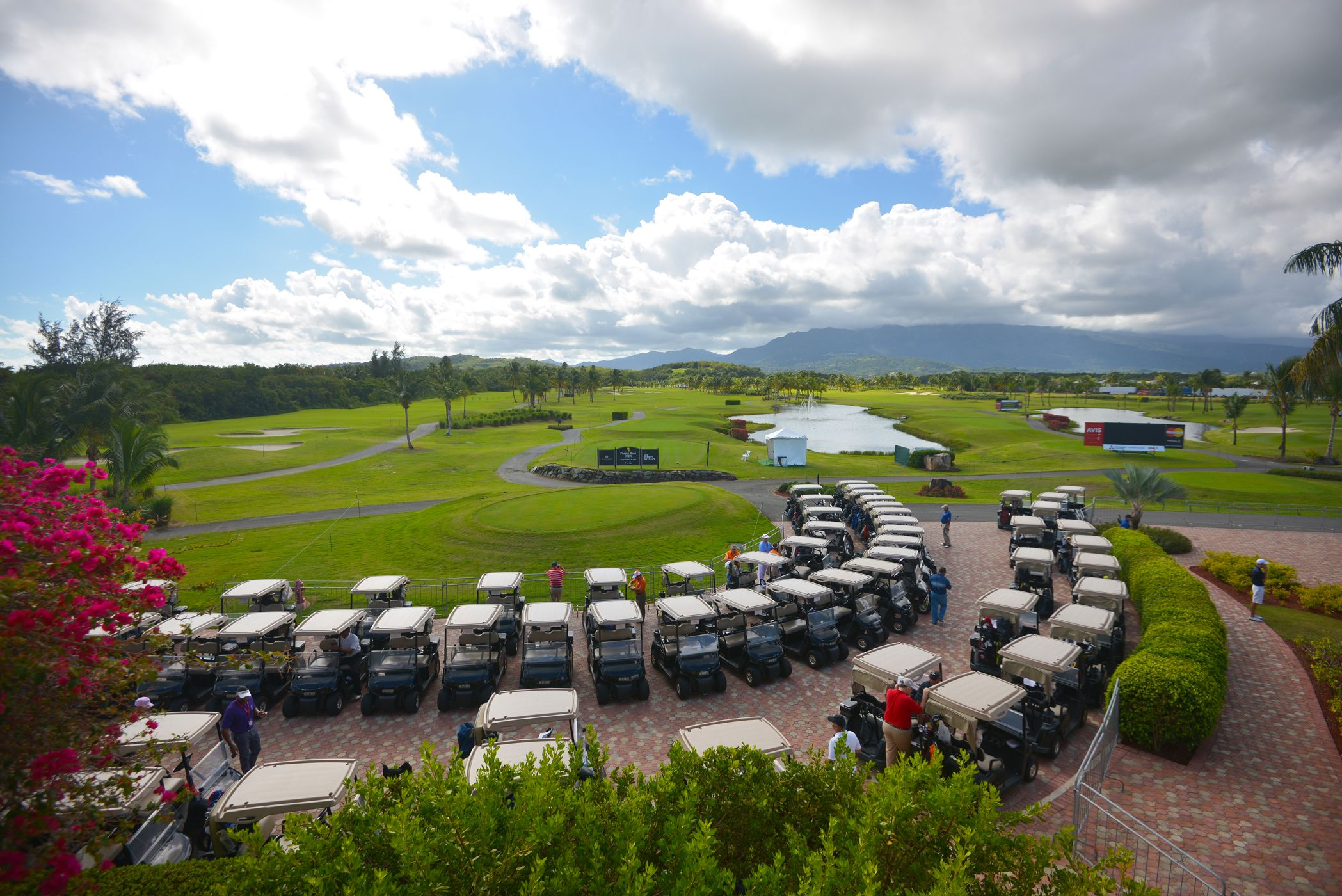 Beautiful Trump international golf course Coco Beach. At ...