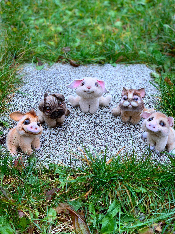 Kleine Freundekreis Von Furrytoys Auf Etsy Echt Jetzt Glasauge Etsy