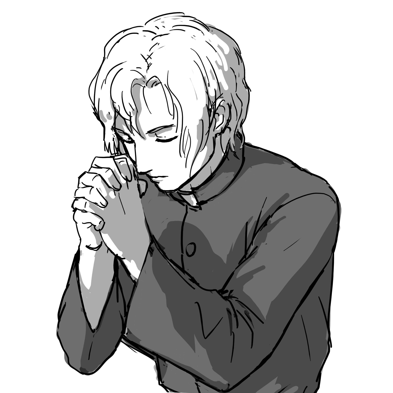 手を組む 女性 祈る 手前