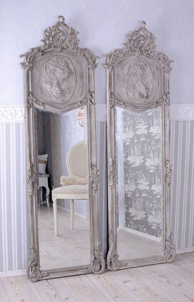 Zwei Spiegel Shabby Wandspiegel Rokoko Flurspiegel Frauen Antik