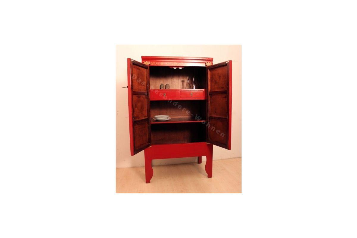 Armoire Chinoise Rouge Et Dorée Meubles Chinois Pinterest