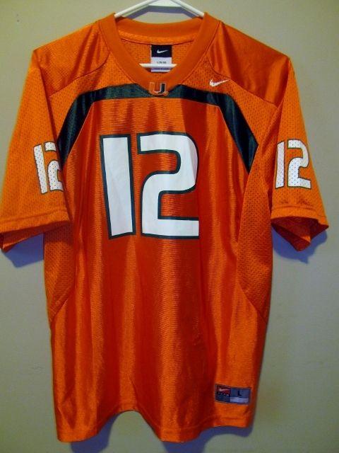 new arrival 4a1e0 5ed5f NIKE Jim Kelly Miami Hurricanes Football jersey , Youth ...