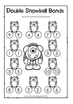 Number Bonds Free Worksheet Double Numbers Doubles Worksheet Number Bonds Worksheets