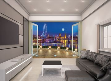 Fotobehang Londen in woonkamer | Fotobehang voor elk interieur ...