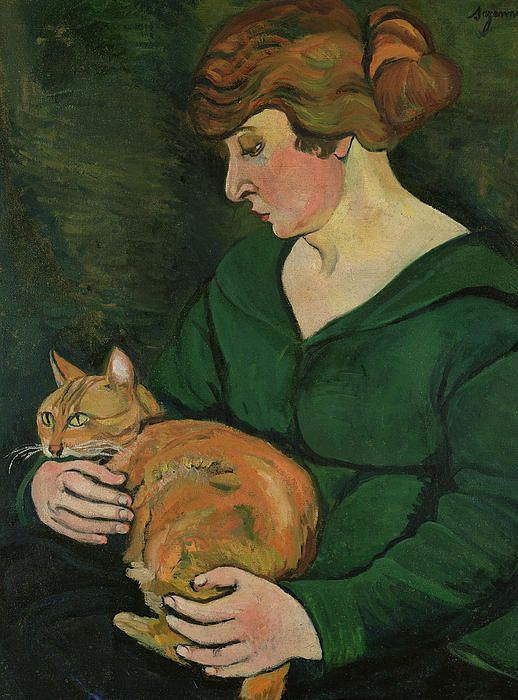 Suzanne Valadon (1865-1938) - Self-Portrait with Raminou, 1920