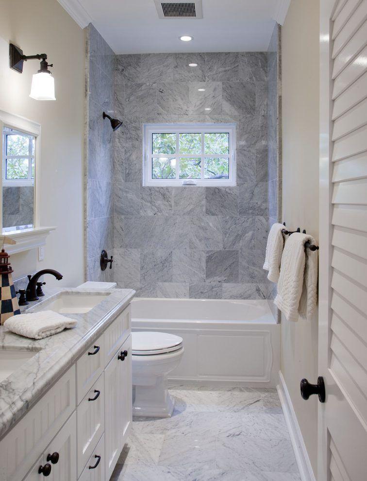 Coastal Bathrooms Ideas Bathroom Beach Style With Tiled Floor White Vanity White Vani Bathroom Remodel Shower Bathroom Design Inspiration Bathroom Design Small