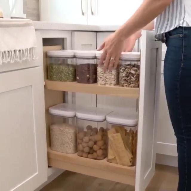 Kitchen Cabinet Organization - Food Container Storage