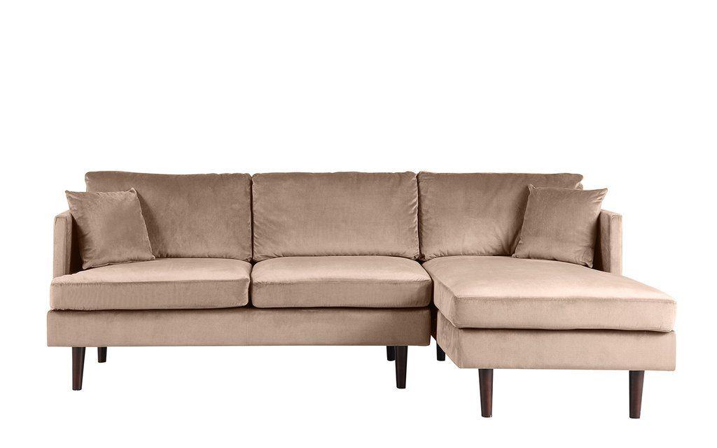 Jovanni Modern Art Deco Jewel Tone Microfiber Sectional Sofa