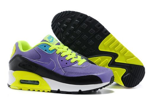 e682a5d350 ... Women s Nike Air Max 90 Sneaker Shoes A Jogging Shoes Purple Black  Fluorescent Green only . ...