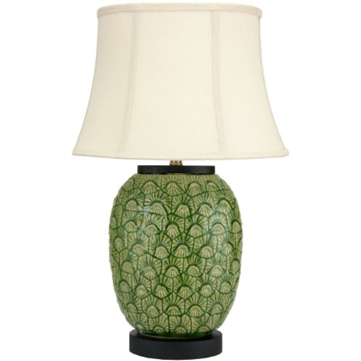 Oriental furniture 25 green feather design porcelain jar lamp porcelain mozeypictures Image collections