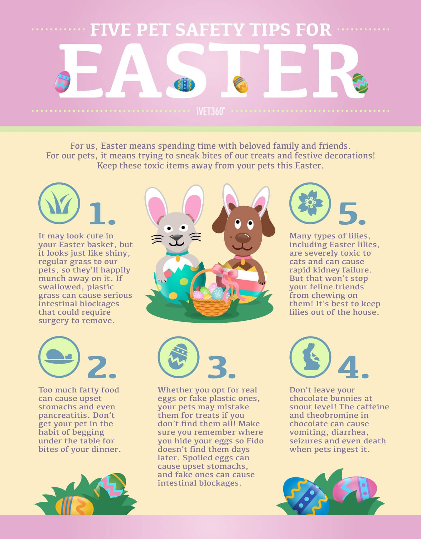 5 Pet Safety Tips For Easter Infographic Pet Safety Easter Pets Pets