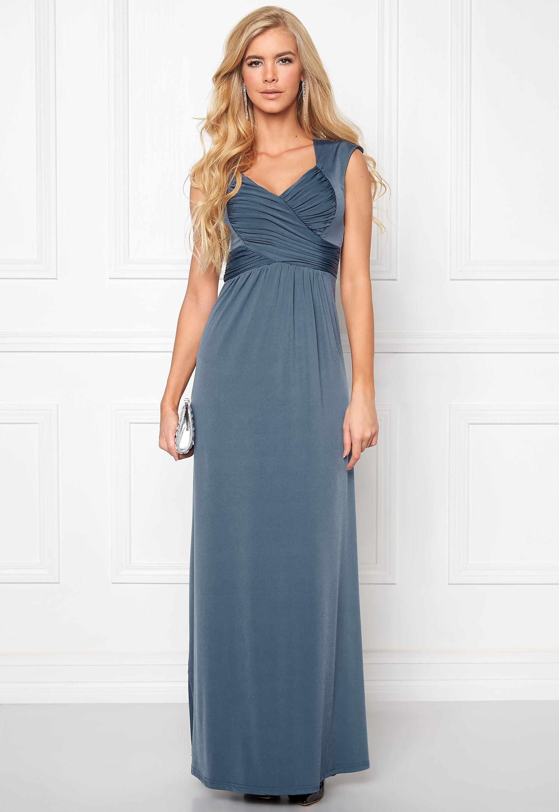 13e43c6a Chiara Forthi Francine Dress Pigeon Blue - Bubbleroom | Kjoler ...