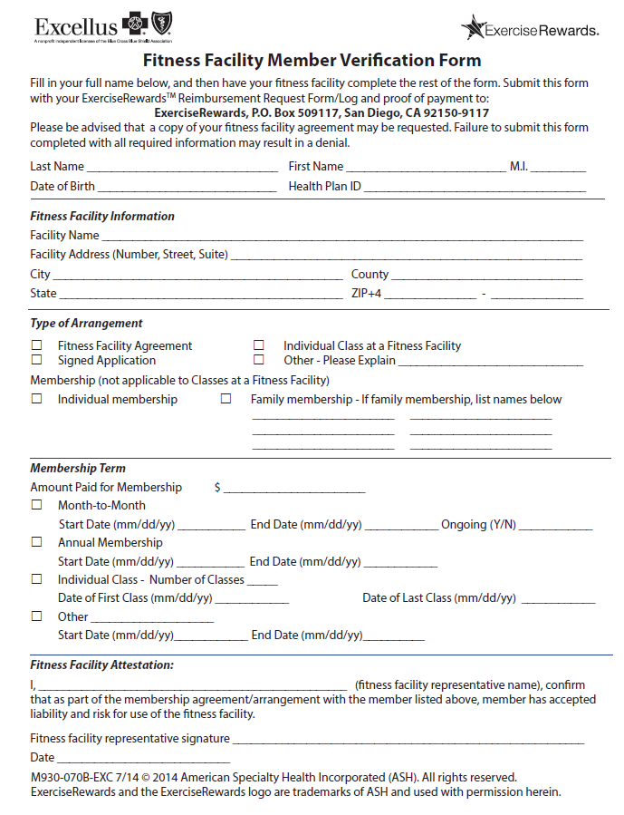 Excellus Blue Cross Blue Shield  Of   Health Insurance Forms