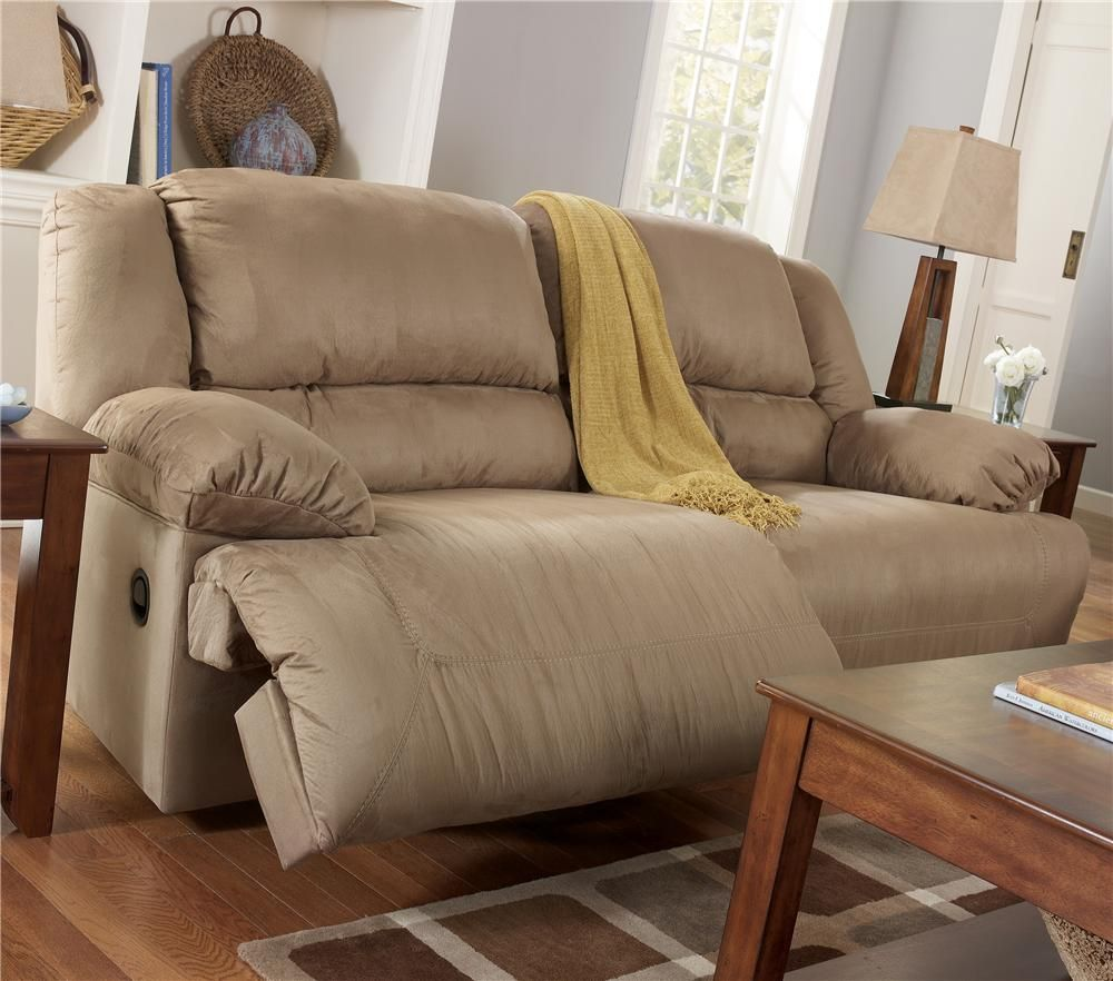 Ashley Furniture Snuggle Able Double Reclining Sofa 599 95 Too