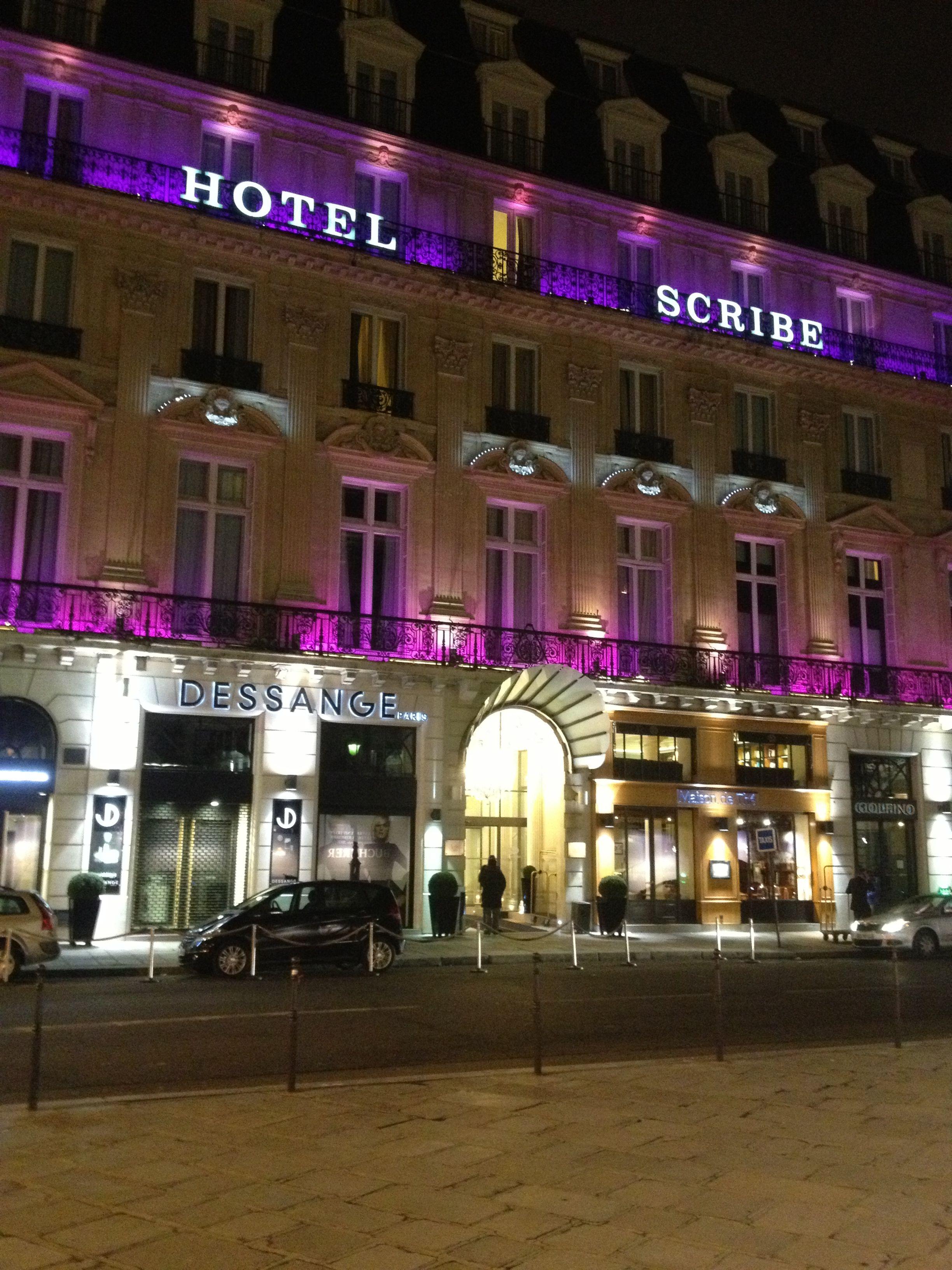 Spring Break 2013- Hotel Scribe Paris World
