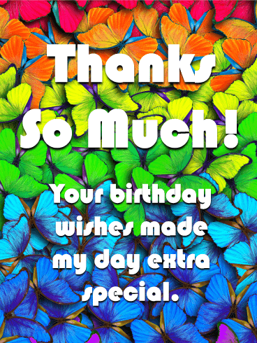 thanks for your best wishes