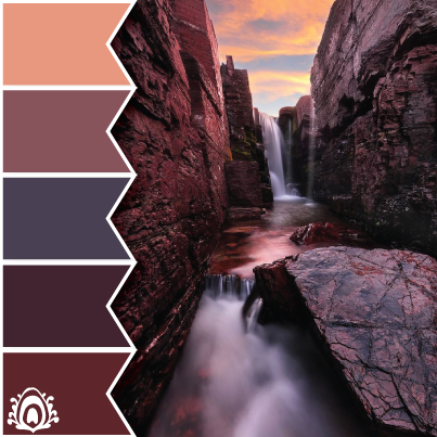 PURPLE WATERFALL color palette Pastel Feather Studio