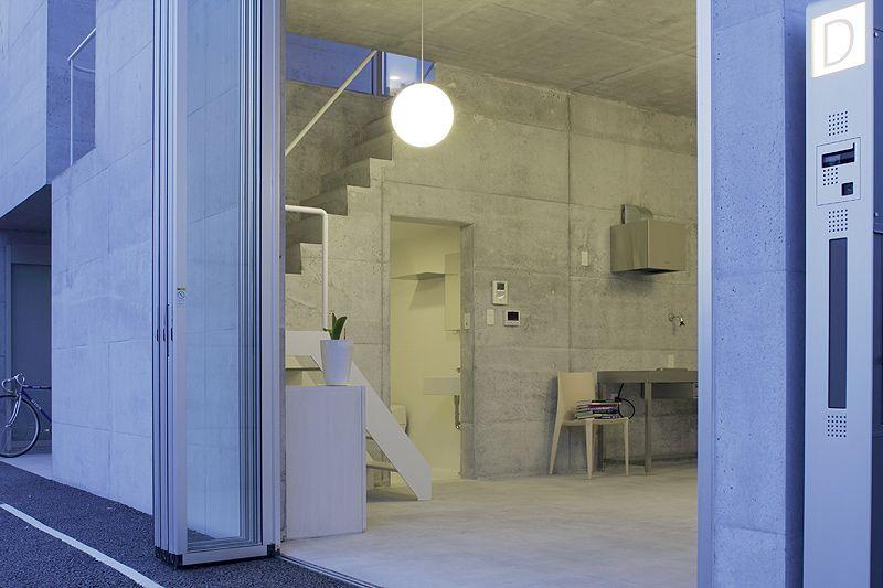 El microcosmos de hormigón del estudio Ikimono Architects | Interiores Minimalistas