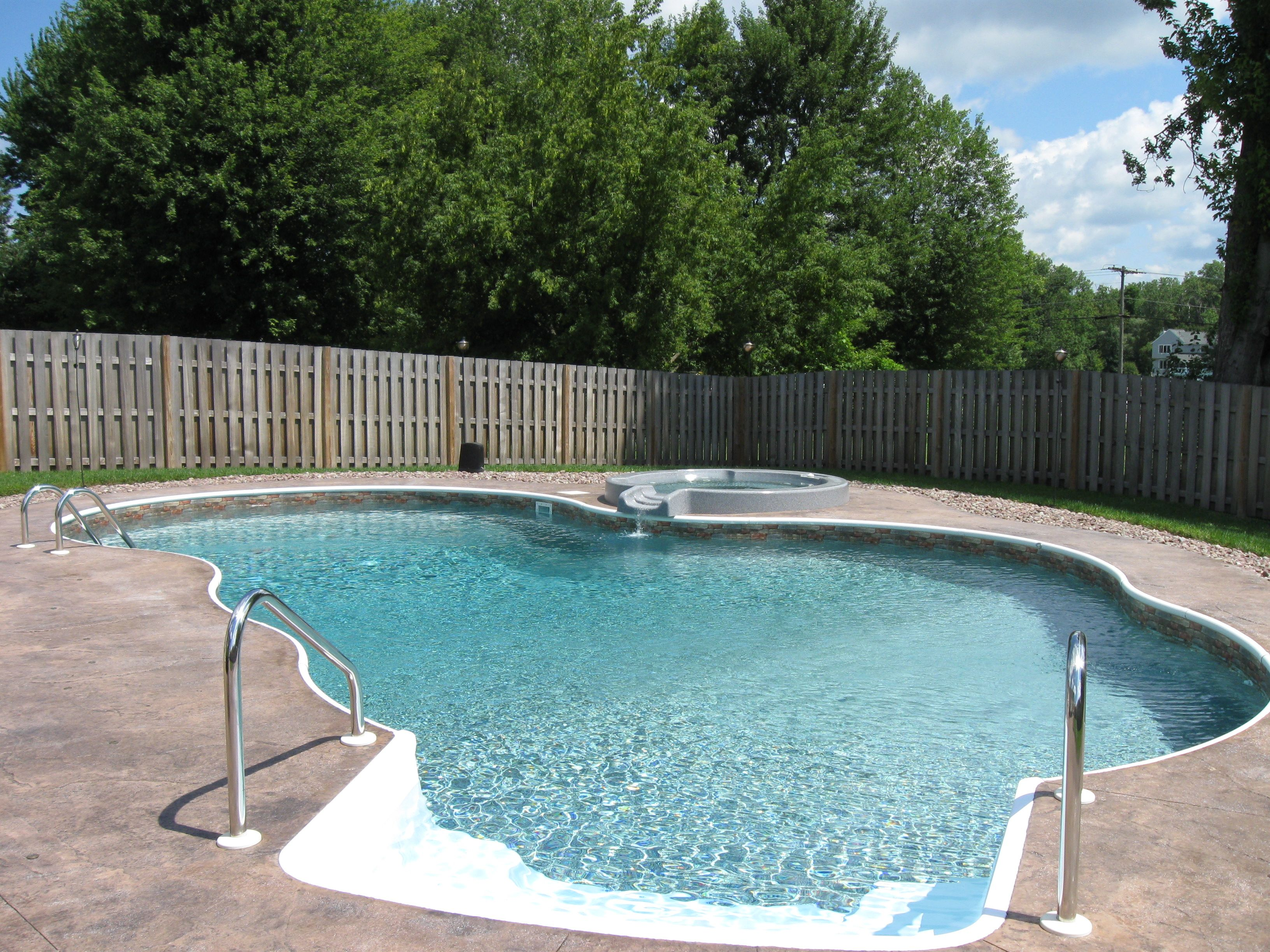 Mountain Lake Swimming Pool - In Ground Swimming Pools Built By