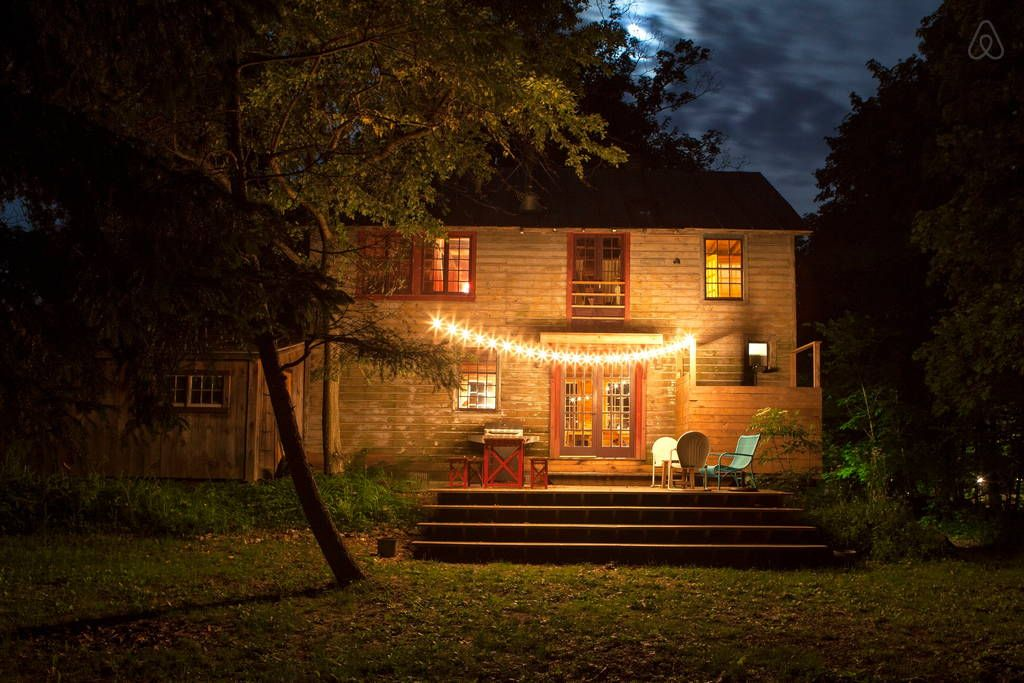 Check out this awesome listing on Airbnb: Rustic-chic at The Barn in Tivoli - Cabins for Rent in Tivoli
