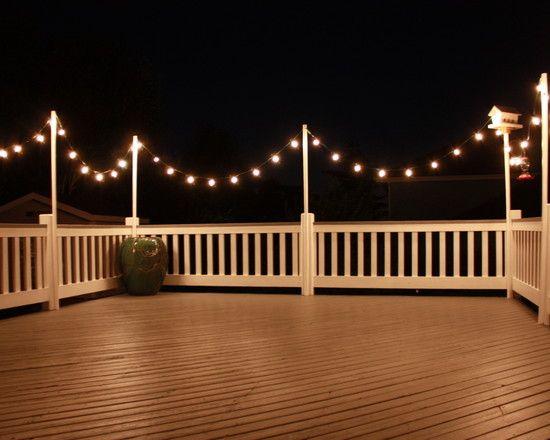 String Party Lights Around Deck