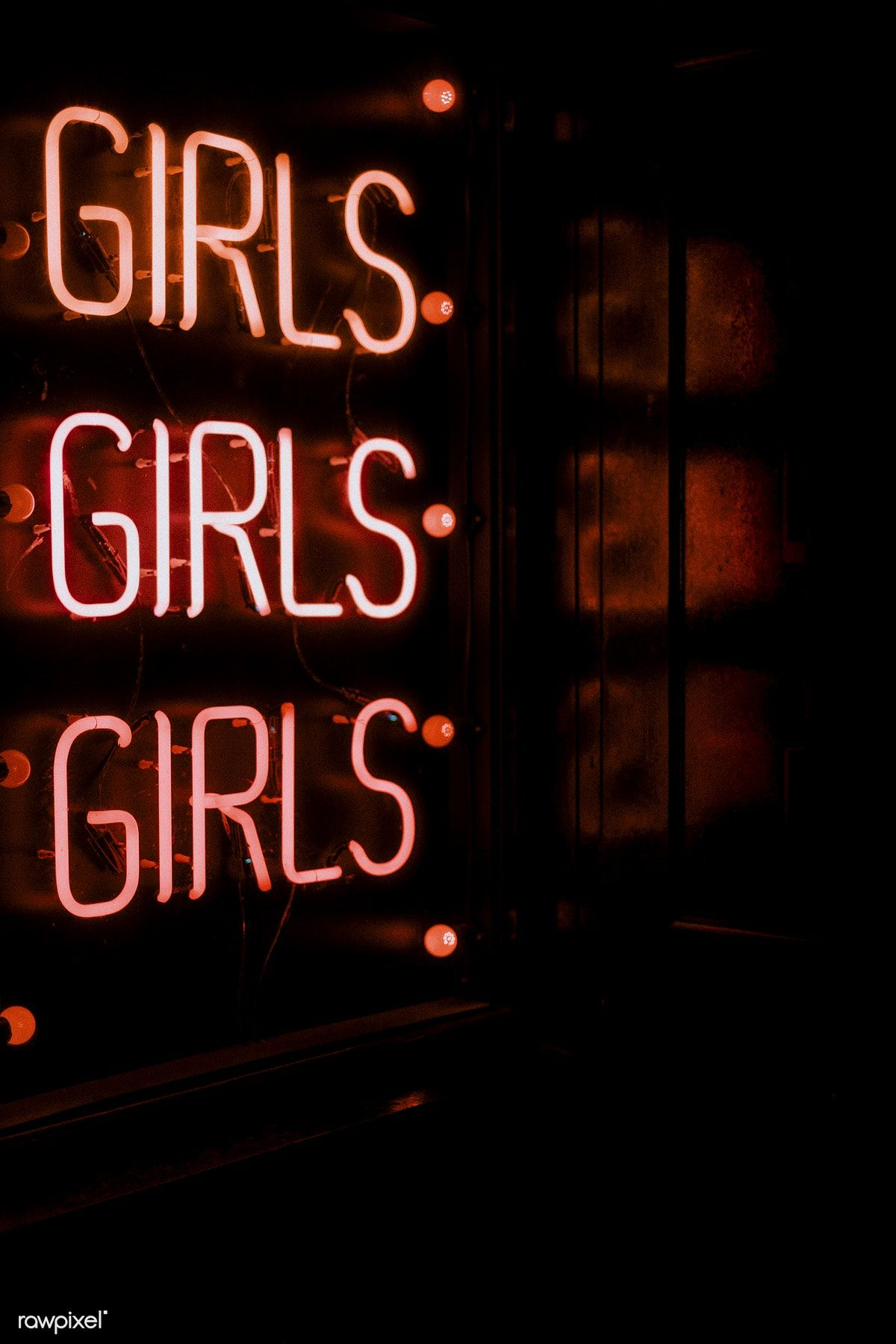 Girls Red Neon Sign Free Image By Rawpixel Com Clem Onojeghuo Neon Wallpaper Red Aesthetic Red Wallpaper