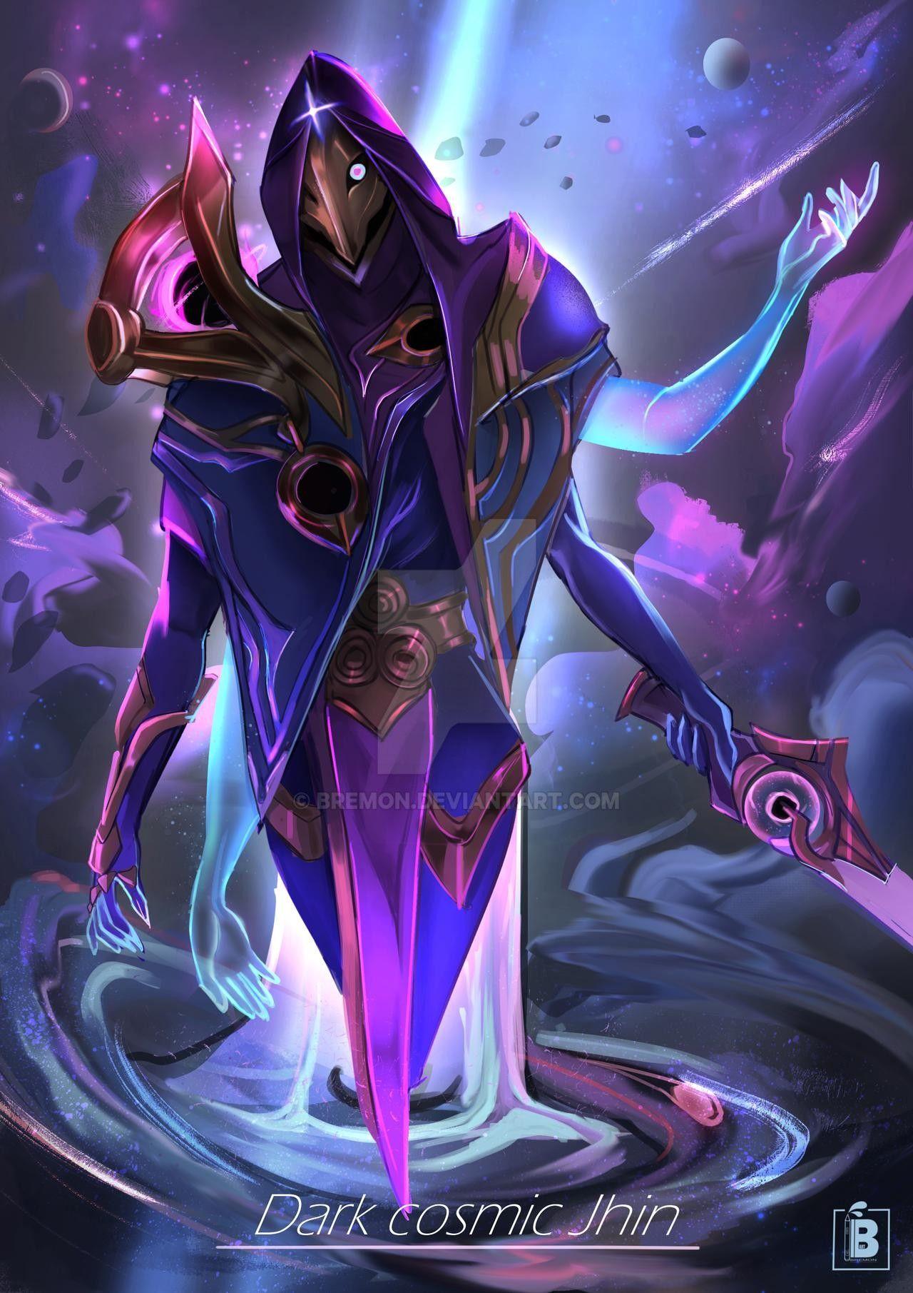 Dark Cosmic Jhin fan art by Bremon on DeviantArt | Jhin ...
