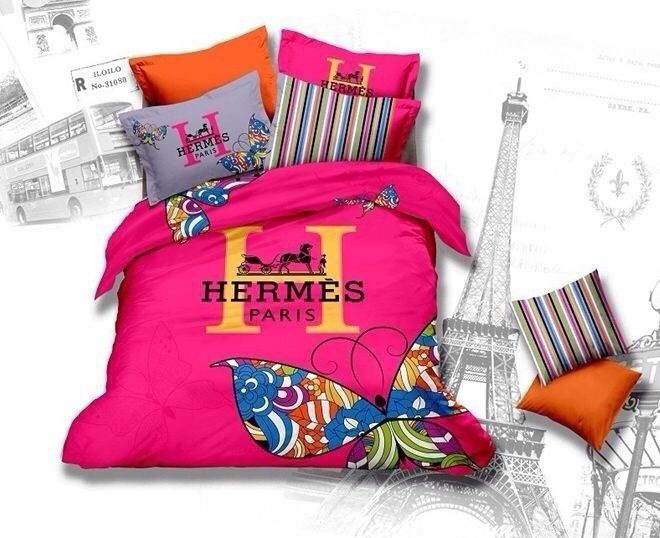 hermes paris bettw sche g nstig billig gut preiswert king size baumwolle bed set 6 teilig. Black Bedroom Furniture Sets. Home Design Ideas