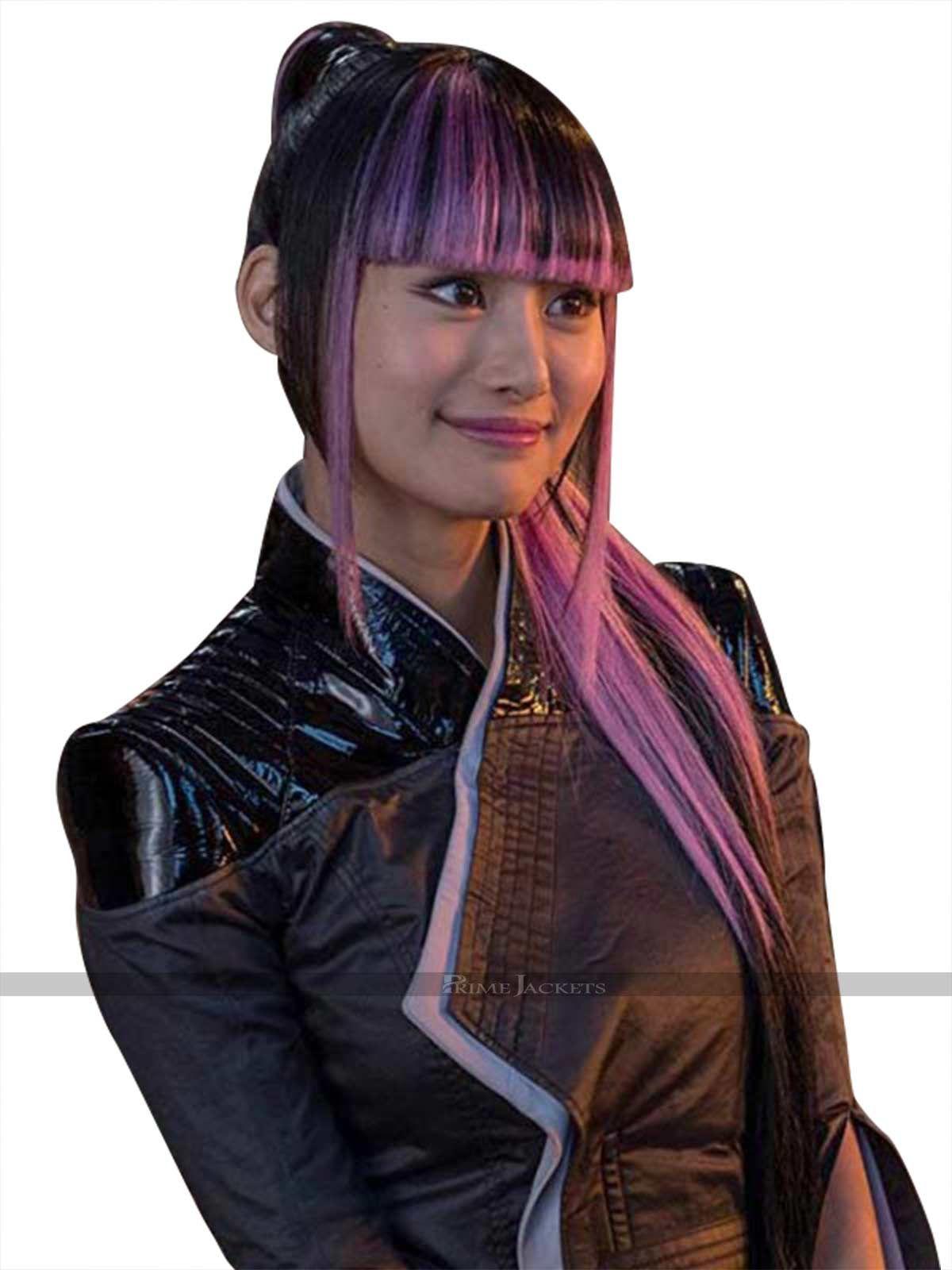 Yukio Deadpool 2 Black Leather Costume Marvel Girls Leather Jacket Deadpool
