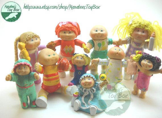 Cabbage Patch Kids Figures 1980s Toys Group Of 10 Childhood Toys My Childhood Memories Cabbage Patch Kids